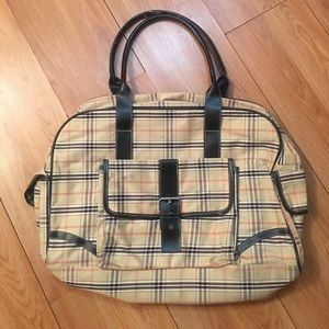 Plaid weekender luggage
